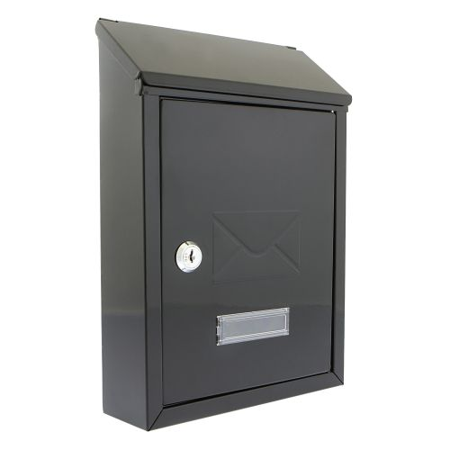 Post or Suggestion Box Wall Mountable with Fixings 240x113x325mm Black
