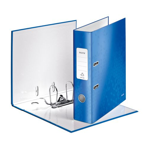 Leitz WOW Lever Arch File 80mm Spine for 600 Sheets A4 Blue Ref 10050036 [Pack 10] [REDEMPTION]