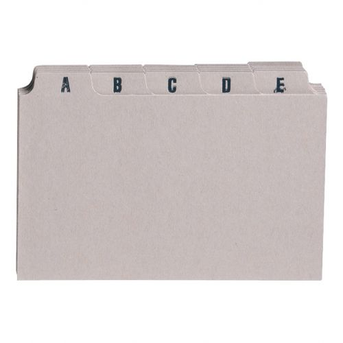 5 Star Office Guide Card Set A-Z 6x4in 25 Cards 152x102mm Buff