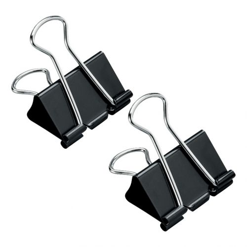 5 Star Office Foldback Clips 32mm Black [Pack 12]