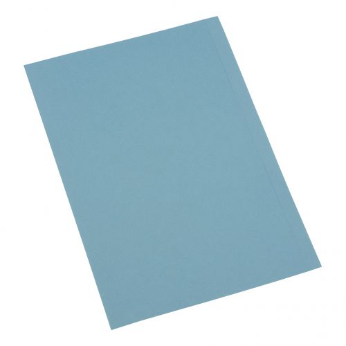 5 Star Office Square Cut Folder Recycled 250gsm Foolscap Blue [Pack 100]