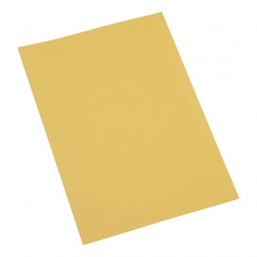 5 Star Office Square Cut Folder Recycled 250gsm Foolscap Yellow [Pack 100]