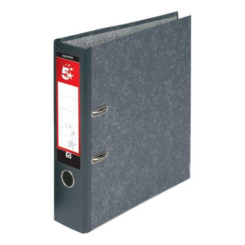 5 Star Office Lever Arch File 70mm Foolscap Cloudy Grey [Pack 10]