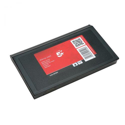 5 Star Office Stamp Pad 158x90mm Black