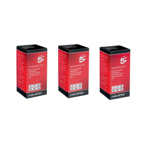 5 Star Office Endorsing Ink 28ml Red