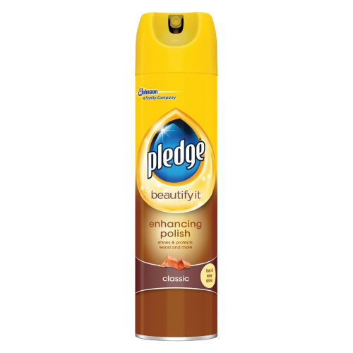 Pledge Wood 5 in 1 Classic Furniture Polish Aerosol Spray 250ml Ref 97974