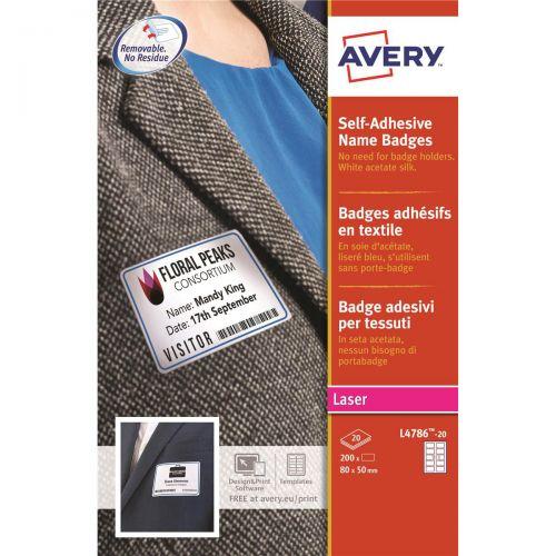 Avery Save Namebdg LAB80X50 Redbrd PK20 AV00005             er Ref L4786-20 [200 Labels]