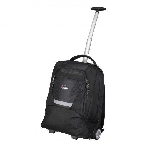 Lightpak Master Laptop Backpack with Trolley Nylon Capacity 17in Black Ref 46005