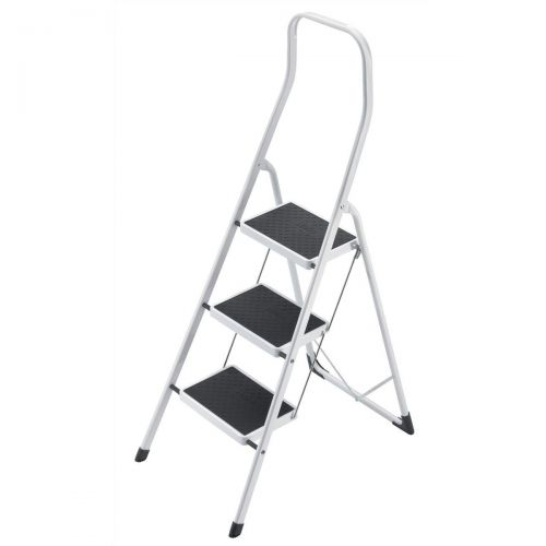 5 Star Facilities Safety Steps Folding Safety Rail H0.5m 3 Treads Capacity 150kg H2.49m 6.6kg