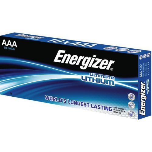 Energizer Ultimate Battery Lithium LR03 1.5V AAA Ref 639754 [Pack 10]