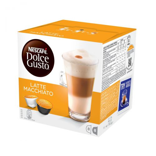 Nescafe Latte Macchiato Capsules for Dolce Gusto Machine Ref 12019858 Packed 48 (3x16 Capsules=24 Drinks)