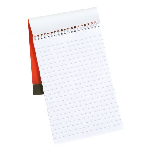5 Star Office Shorthand Pad Wirebound 60gsm Ruled 300pp 127x200mm Red [Pack 10]