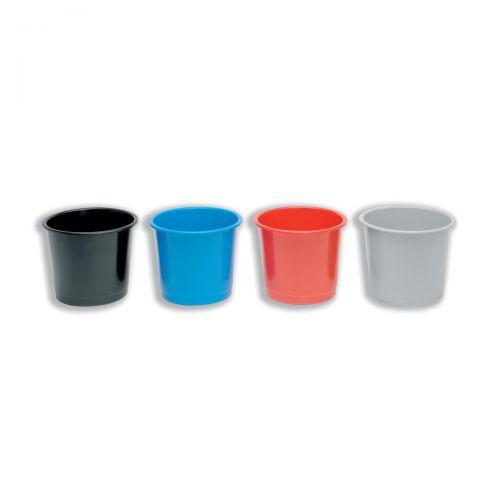 5 Star Office Waste Bin Polypropylene 14 Litre Capacity 304x254mm Grey