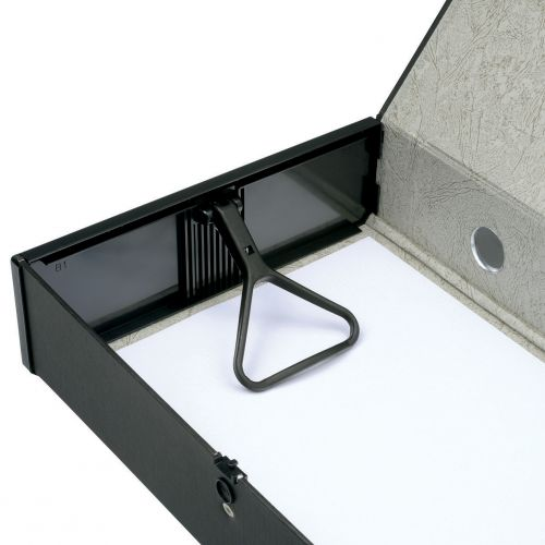 5 Star Office Box File 75mm Spine Lock Spring Foolscap Black [Pack 5]