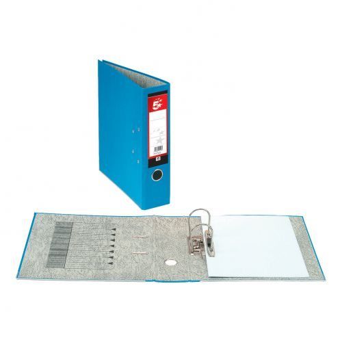 5 Star Office Lever Arch File 70mm Foolscap Blue [Pack 10]