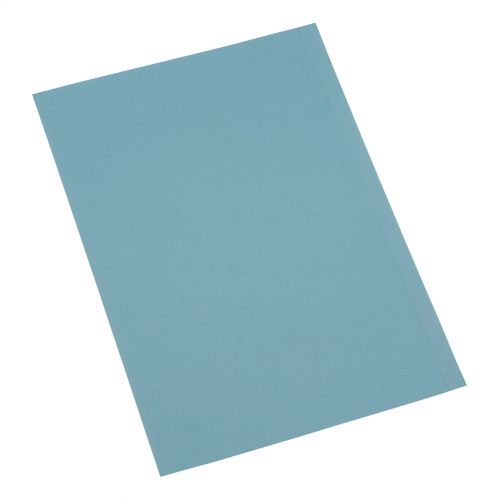5 Star Office Square Cut Folder Recycled 180gsm Foolscap Blue [Pack 100]