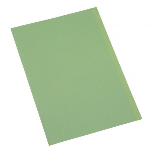 5 Star Office Square Cut Folder Recycled 180gsm Foolscap Green [Pack 100]