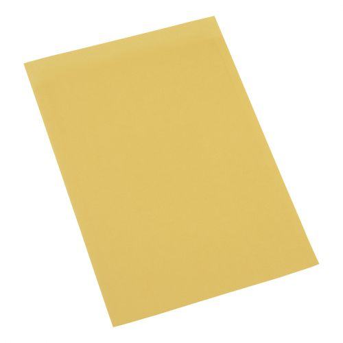 5 Star Office Square Cut Folder Recycled 180gsm Foolscap Yellow [Pack 100]
