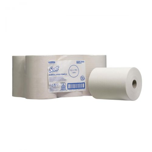 Scott Slimroll Hand Towel Pk6 White 6657