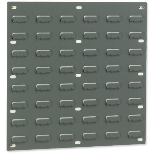 Louvred Panel Double Indented W457xH438mm Grey Ref 010101/2 [Pack 2]