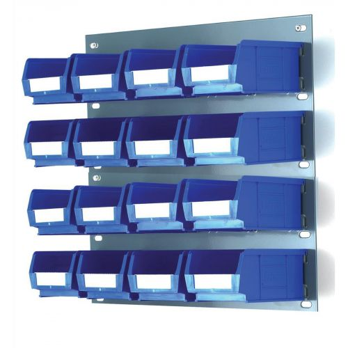 Louvred Panel W457xH438mm and 16 x Container Bins W165xD100xH75mm Ref 010171/B