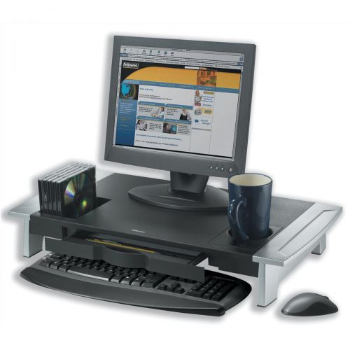 Fellowes Office Suites Monitor Riser Height-adjustable with Storage Tray Ref 80310