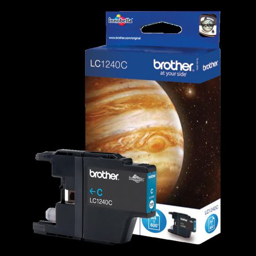 Brother Inkjet Cartridge Page Life 600pp Cyan Ref LC1240C