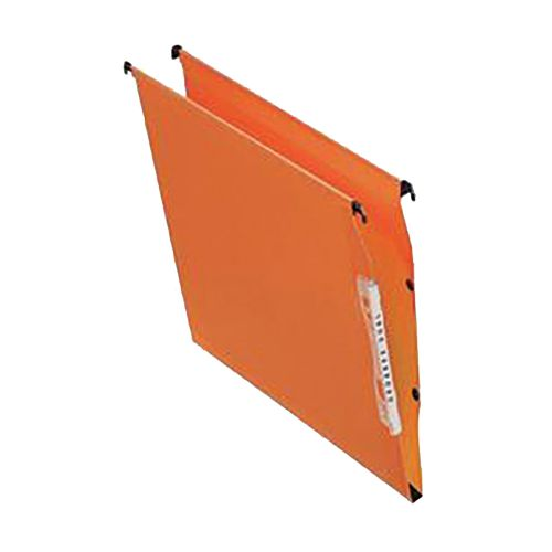 Bantex Linking Lateral File Kraft 30mm Wide-base 210gsm Foolscap Orange Ref 100330744 [Pack 25]