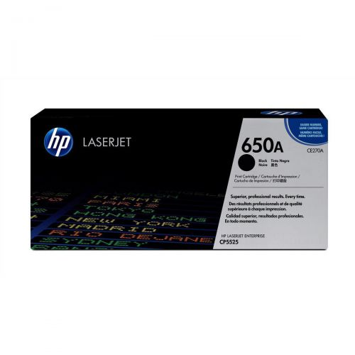 HP 650A Laser Toner Cartridge Page Life 13500pp Black Ref CE270A