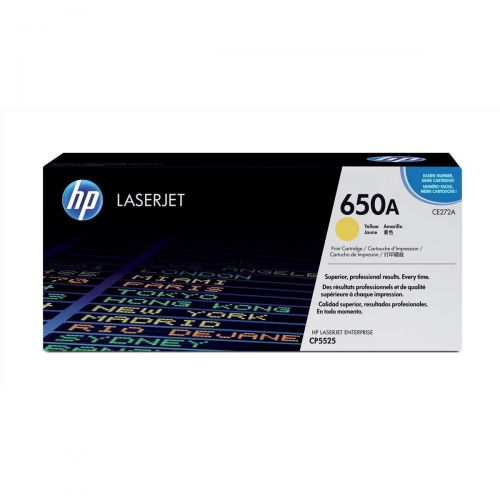 HP 650A Laser Toner Cartridge Page Life 15000pp Yellow Ref CE272A