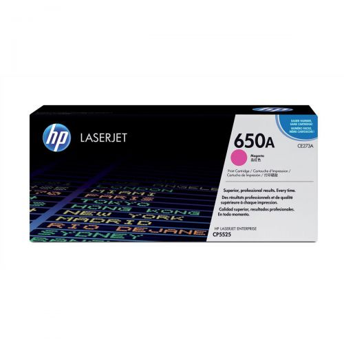 HP 650A Laser Toner Cartridge Page Life 15000pp Magenta Ref CE273A
