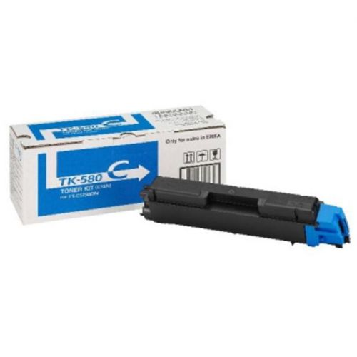 Kyocera TK-580C Laser Toner Cartridge Page Life 2800pp Cyan Ref 1T02KTCNL0