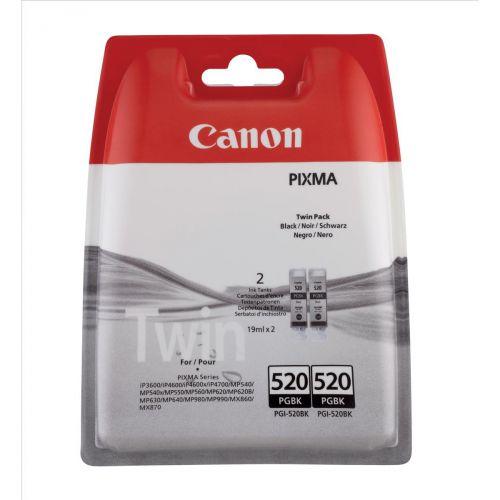 Canon PGI-520BK InkCart Blk Pk2 2932B009