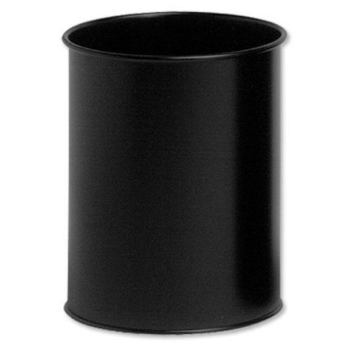 Durable Bin Round Metal 15 Litre Capacity 260x315mm Black Ref 3301/01