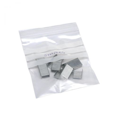 Grip Seal Polythene Bags Resealable Write On 40 Micron 90x114mm [Pack 1000]