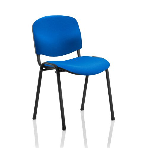#TREXUS STACKING CHAIR BLACK FRAME BLUE