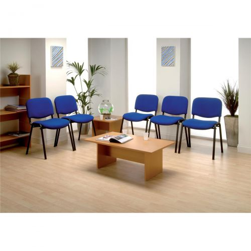 &Trexus Stacking Chair Black Frame Blue 480x420x500mm Ref T0477A010