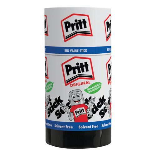 Pritt Stick Glue Solid Washable Non-toxic Jumbo 90g Ref 45552966 [Pack 6]
