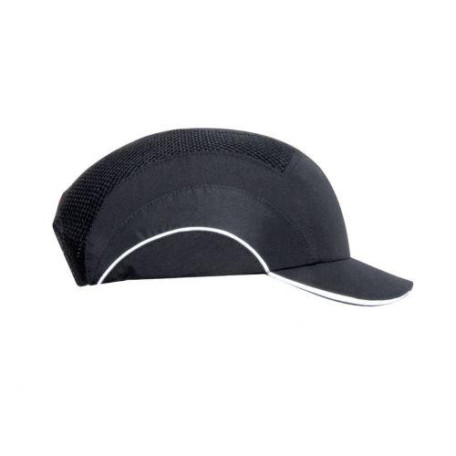 JSP Hard Cap A1 Plus Ventilated Adjustable with Short Peak 50mm Black Ref ABS000-001-100