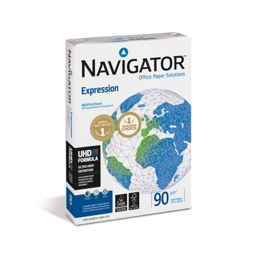 Navigator Expression Paper Ream-Wrapped 90gsm A4 White Ref NEX0900024 [500 Sheets]