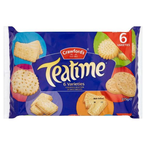 Crawfords Teatime Varieties Biscuits Assorted 6 Varieties 275g Ref 0401016