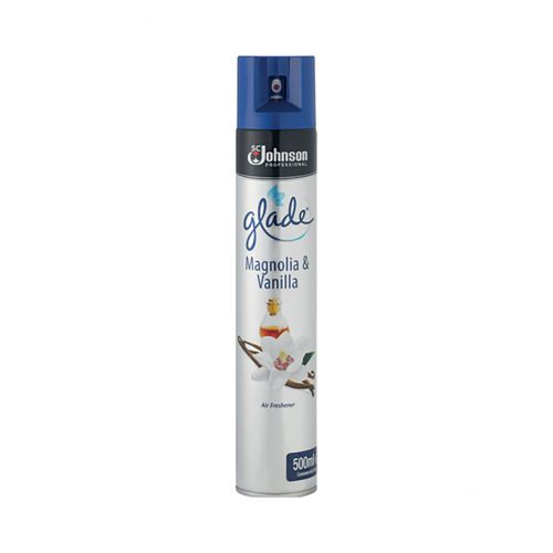 Glade Air Freshener Aerosol Spray Can Vanilla & Magnolia 500ml Ref 71225