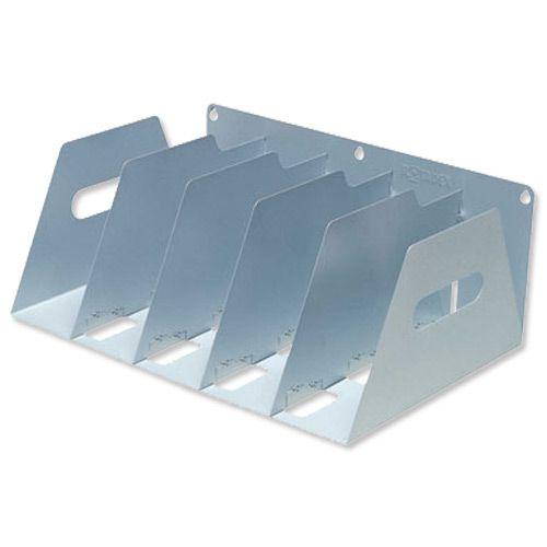 Lever Arch Filing Rack Portable Rigid Gunmetal Grey A4