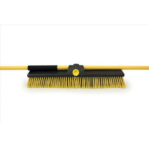 Bentley Broom Bulldozer Dual Purpose Soft/Stiff PVC Yard Broom & Metal Handle 24inch Ref SPC/HQ16