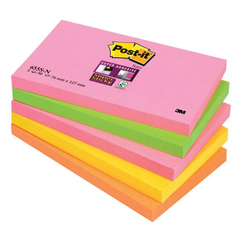 POSTIT SUP STICKYNOTE 76X127 CAPE TWN P5