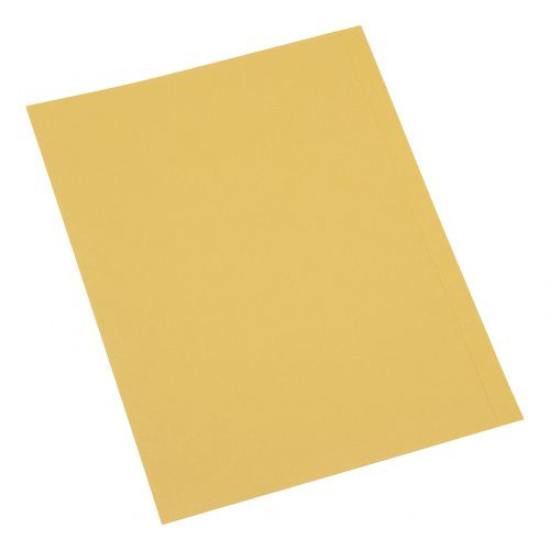 5 Star Office Square Cut Folder Recycled 250gsm A4 Yellow [Pack 100]