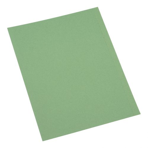 5 Star Office Square Cut Folder Recycled 250gsm A4 Green [Pack 100]