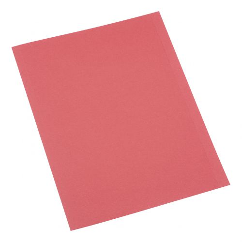 5 Star Office Square Cut Folder Recycled 250gsm A4 Red [Pack 100]