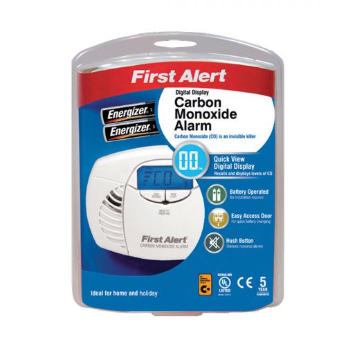 FireAngel First Alert Carbon Monoxide Detector Alarm LED and Fittings 85dB Ref FT0409