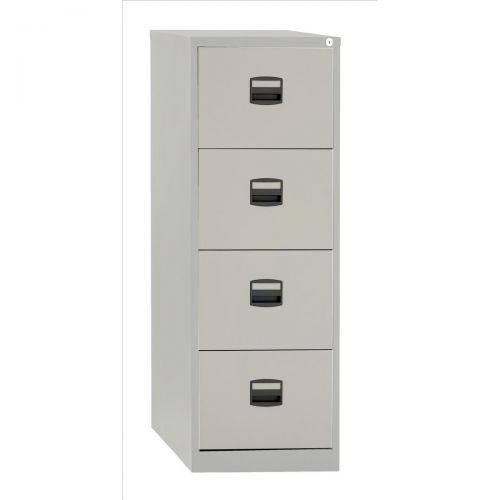 &TREXUS 4 DRAWER FILING CABINET GREY